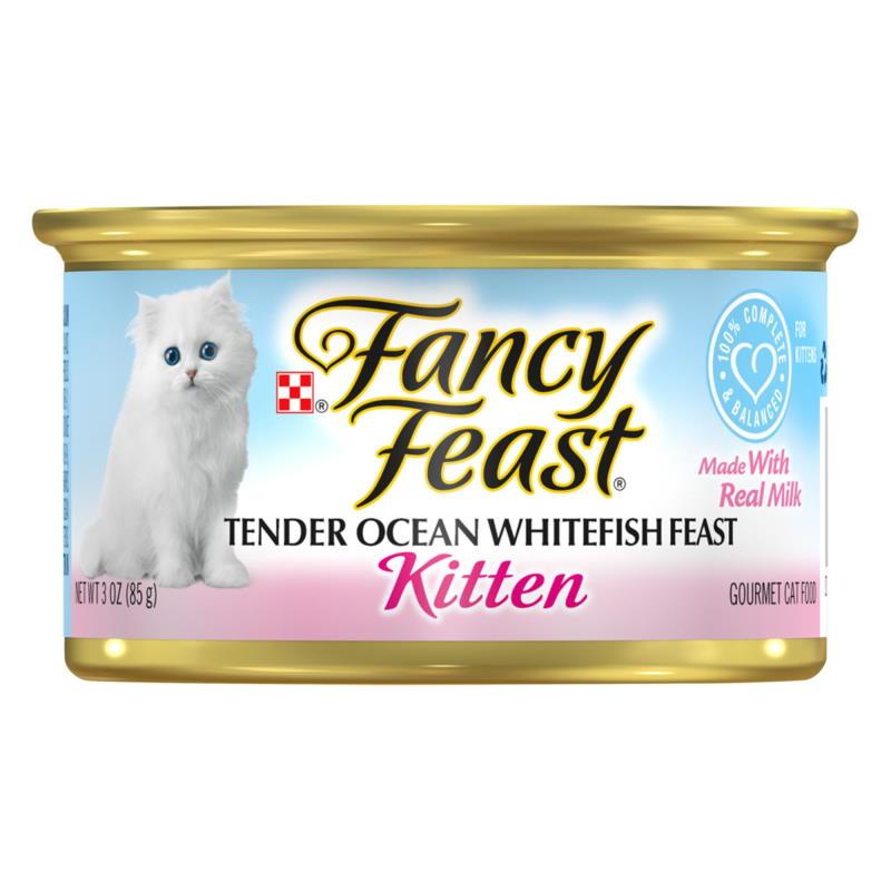 fancy feast canned kitten food