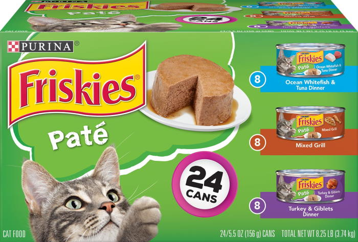 Friskies canned adult cat food variety pack